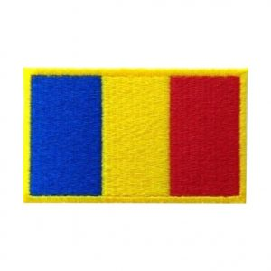 Drapel Romania contur galben