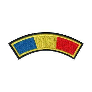 Drapel semirotund cu contur negru