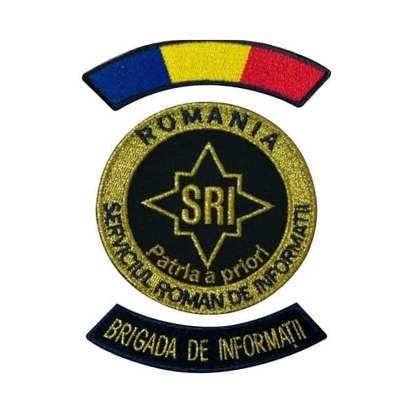 Emblema SRI - Brigada de Informatii SRI și alte însemne specifice pentru SRI.