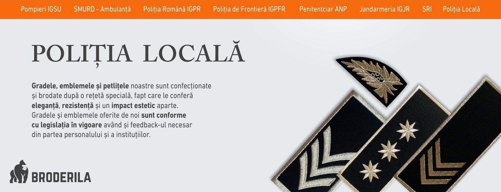 emblema brodata politia locala grade politia locala petlite politia locala emblema coifura politia locala sigla politia locala