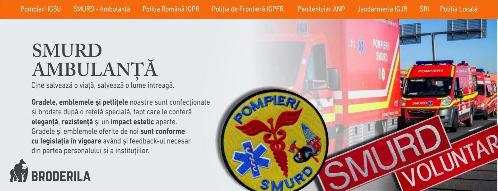 emblema smurd brodata grade medici paramedici grade militare ambulanta broderila.ro grade militare brodate