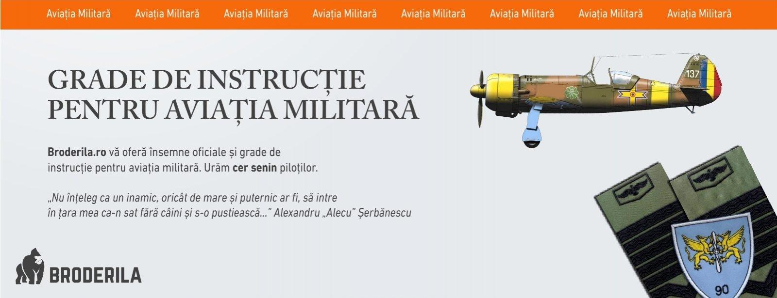 grade instructie aviatia militara romana broderila.ro