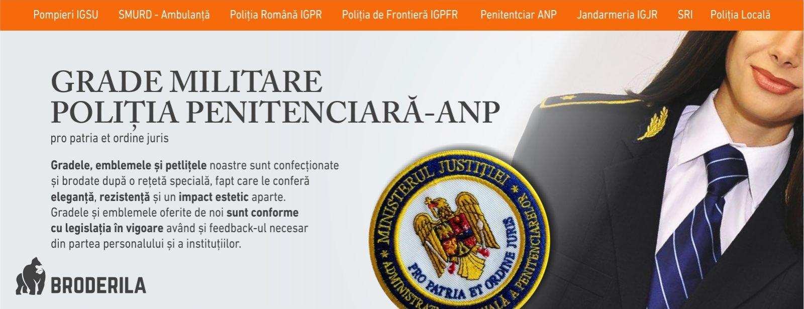 grade militare penitenciare anp emblema politia penitenciare emblema brodate politie penitenciar broderila.ro