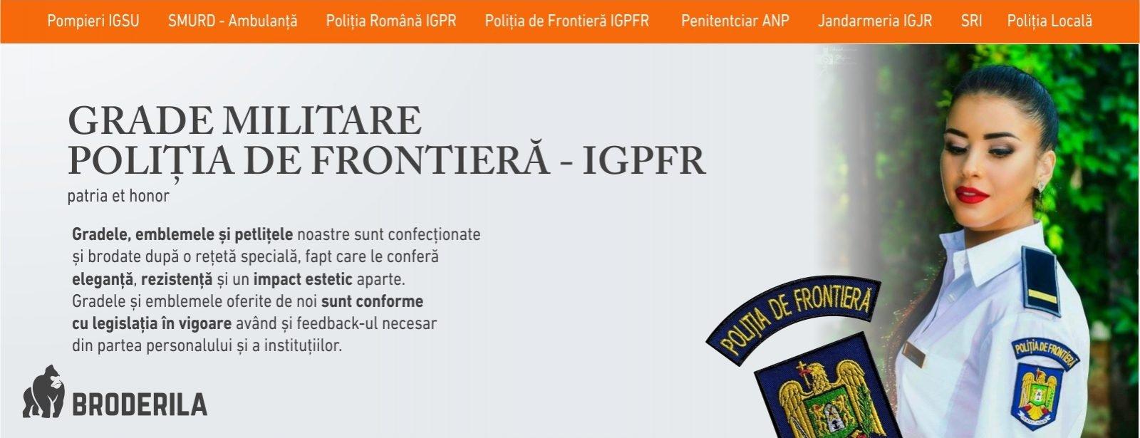 grade militare politia de frontiera igpfr emblema politia de frontiera igpfr grade brodate politia de frontiera