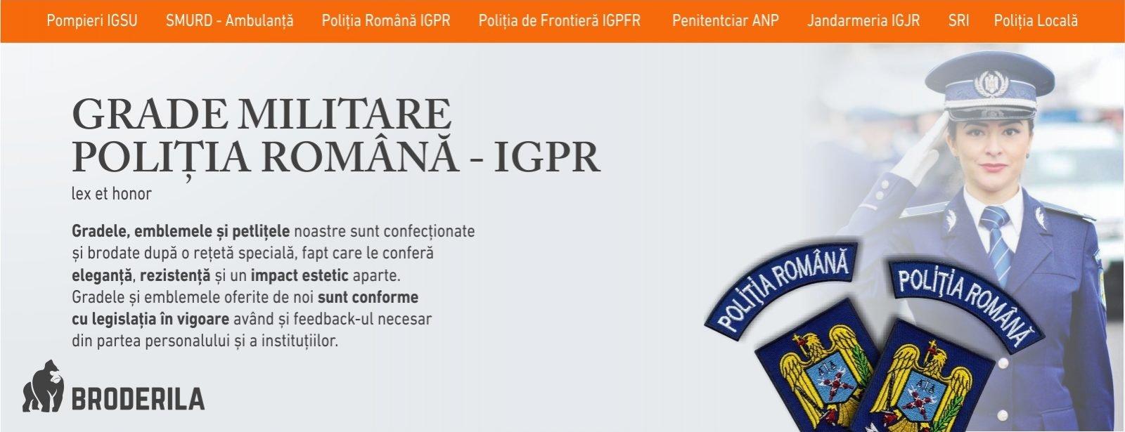 grade militare politie igpr grade militare politia romana emblema politia romana brodata broderila.ro