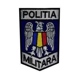 Emblema Politia Militara brodata ecuson albastru 1