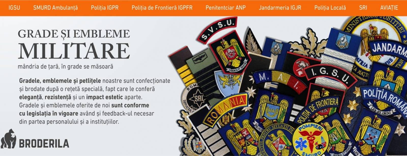 grade militare epoleti militare epoleti brodati embleme brodate broderila.ro