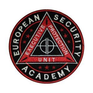 Emblema brodata ESA Jandarmi | European Security Academy - Insemne oficiale/profesionale si grade pentru Jandarmeria Romana IGJR. Lex et ordo! Comanda acum!