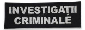 Emblema investigatii criminale spate alb