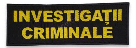 Emblema investigatii criminale spate galben