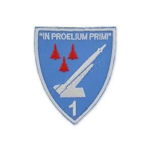 Emblema brigada 1 rachete sol aer in proelium primi