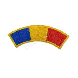 Arcada tricolor contur galben