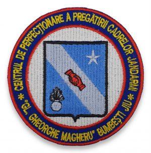 Emblema Centrul de Perfectionare a Pregatirii Cadrelor Jandarmi Gl. Gheorghe Magheru Bumbesti Jiu