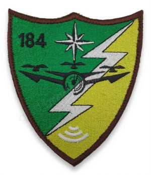 Emblema batalion 184 senzori si aparare antiaeriana brodat