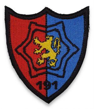 Emblema batalionul 191 infanterie colonel radu golescu albastru rosu