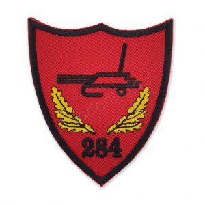 Emblema batalionul 284 tancuri cuza voda rosu