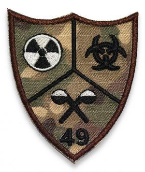 Emblema batalionul 49 aparare cbrn combat terestru