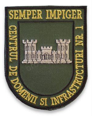 Emblema centrul de domenii si infrastructuri nr 1 kaki