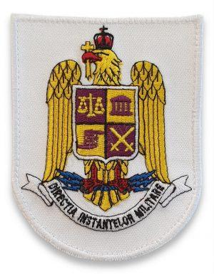 Emblema directia instantelor militare alb