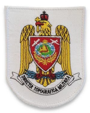 Emblema directia topografica militara alb