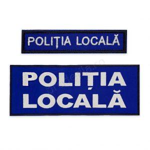 Emblema politia locala coperta