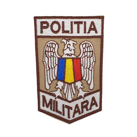 Emblema politia militara bej maro