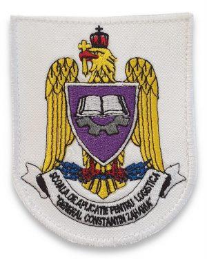Emblema scoala de aplicatie pentru logistica general constantin zaharia alb
