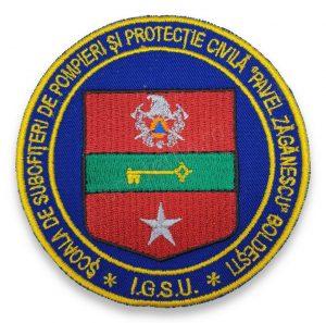 Emblema scoala de subofiteri de pompieri si protectie civila pavel zaganescu boldesti